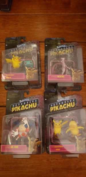 Pokemon Detective Pikachu Figures Lot of 4 for Sale in Los Angeles, CA