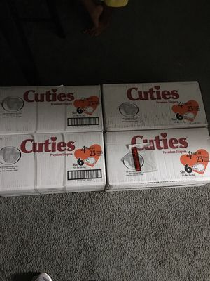 4 boxes of baby diapers size 6 for Sale in Alexandria, VA