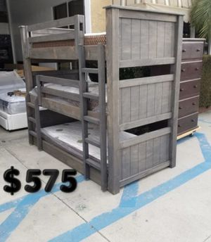 Twin bunk bed over twin for Sale in Long Beach, CA