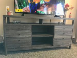 Jane TV Stand up to 70in TVs, Distressed Grey Finish for Sale in Santa Ana, CA
