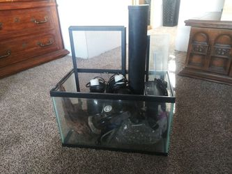 10 +20(tall) Gallon with Fish+Reptile Supplies for Sale in Oakdale,  CA