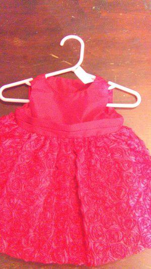 Cherokee New Born Red Satin Dress with wrap around velvet for Sale in Mesa, AZ