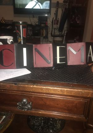 Metal cinema decor sign for Sale in Hollywood, FL