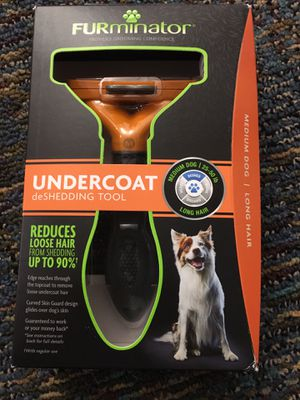 New furminator deshedding tool for medium dog for Sale in Boyds, MD