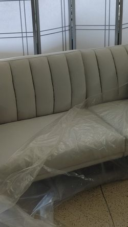White Linen Futon Sofa Split-back 3-position $325 Teak Wood Grade Wood And White Rice Paper For Panel Room Divider $79.99 Handmade Quilt $80 for Sale in Phoenix,  AZ