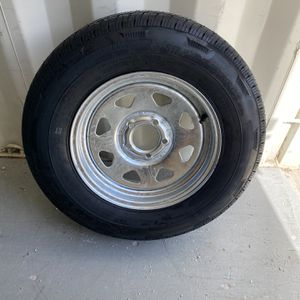 New 205-75-15inch trailer tires on 5-lug galvy rims $100/each for Sale in Fort Lauderdale, FL