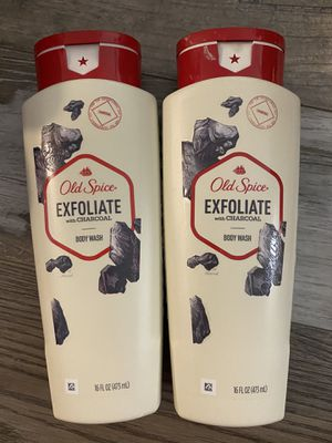 Old spice exfoliate w/charcoal body wash $3.50 each for Sale in San Bernardino, CA