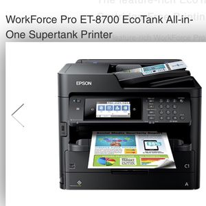 Work Force Pro ET-8700 ECO TANK ALL IN ONE SEPERTANK PRINTER for Sale in Fort Lauderdale, FL