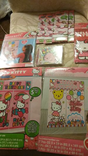 HELLO KITTY girl party supply set for Sale in West Haven, CT