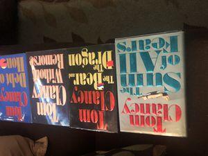 4 Tom Clancy hard cover books. for Sale in Somerton, AZ
