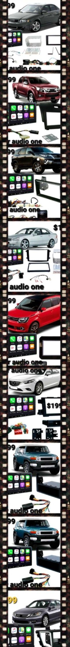 Double din touchscreen Bluetooth usb Apple CarPlay android auto Led light for Sale in San Diego, CA