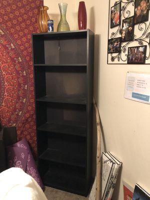 Tall black bookshelf for Sale in Lynnwood, WA