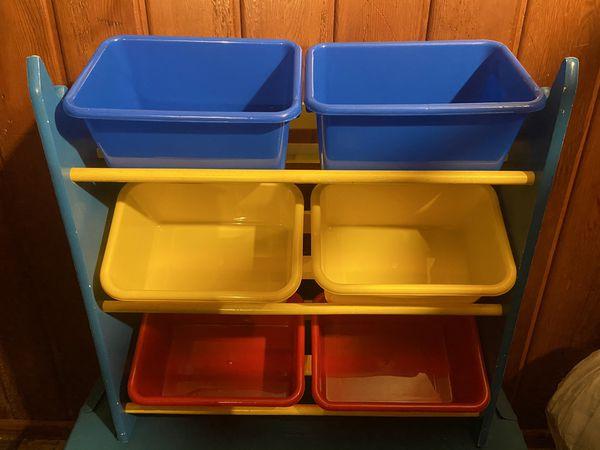 The Backyardigans: Toy Organizer with 6 Plastic Bins