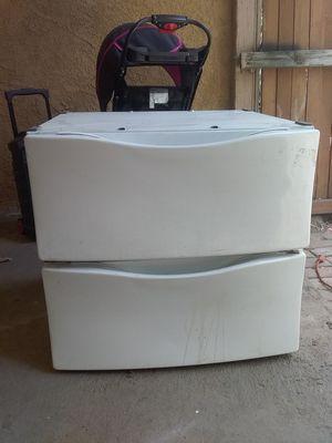 Whirlpool or kenmore bottom pedestals for sale for Sale in San Bernardino, CA