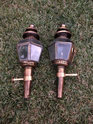 Antique Pair of Carriage Coach Oil Lamp for Sale in Los Angeles, CA