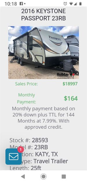 Used 2016 passport 23 RB for Sale in Brookshire, TX