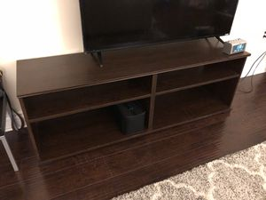 Tv stand brown wood for Sale in Los Angeles, CA