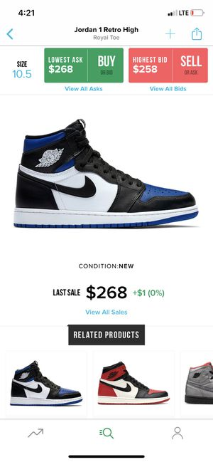 Jordan 1 Royal Toe for Sale in Troy, MI
