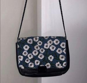 Authentic Loeffler Randall Black Leather Floral Denim Bag for Sale in Dallas, TX