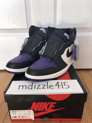 DS sz. 11 Jordan 1 Court Purple for Sale in San Francisco, CA