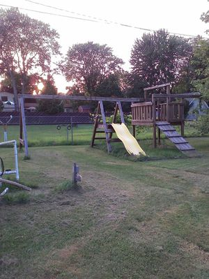 Wood swing set for Sale in New Baltimore, MI