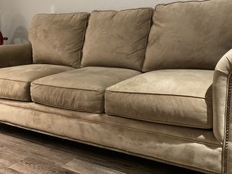 Broyhill light brown velvet couch sofa and armchair set for Sale in Pittsburgh,  PA