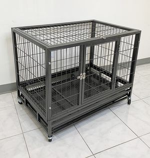 "(NEW) $120 Heavy Duty 36x24x29"" Large Dog Cage Pet Kennel Crate Playpen w/ Wheels for Large Pets for Sale in Whittier, CA"