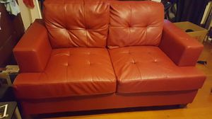 Red leather couch for Sale in San Leandro, CA