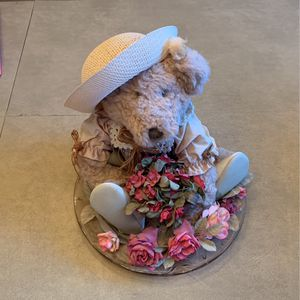 Decorative Bear On Plate for Sale in Brick Township, NJ