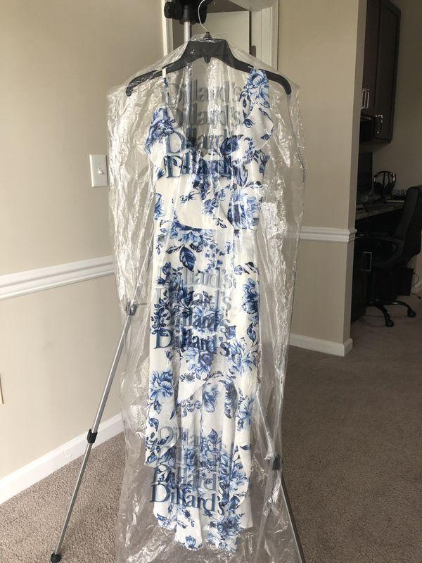 I.N. San Francisco Dress - white and blue floral