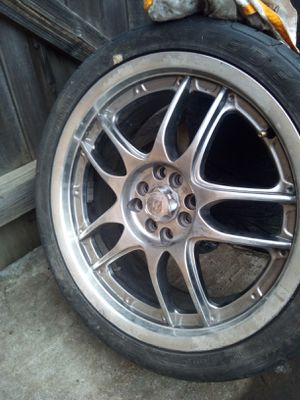 """Universal 18"""" rims with decent tires for Sale in Stockton, CA"""