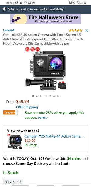 Campark 4k Action camera brand new..never used..waterproof...hablo español.. for Sale in Riverside, CA