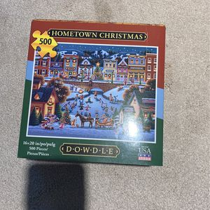 Dowdle Puzzle Hometown Christmas 500 Piece Used for Sale in Laguna Hills, CA