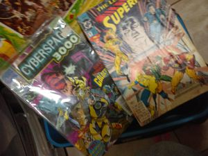 Superman and cyberdpace Comics and Dragon Ball Z Mario Bro Action Figures for Sale in Fresno, CA