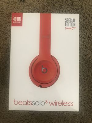Brand new, unopened Beats Solo3 Wireless Headphones (PRODUCT RED) $175 for Sale in San Diego, CA