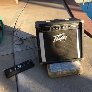 Peavey Backstage Plus Amp, Foot switch and PG-10 Amp for Sale in Arcadia, CA