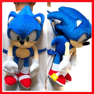 New! Sega Sonic the Hedgehog soft toy plush backpack video game cartoon anime characters kid's bag for Sale in Carson, CA