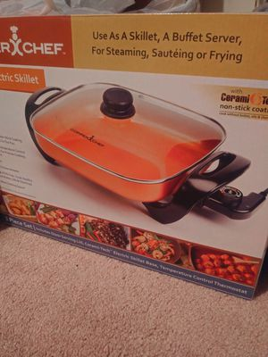 Copper Chef Electric Skillet - Buffet Server - for Steaming, Sauteing or Frying - NEW! for Sale in Los Angeles, CA