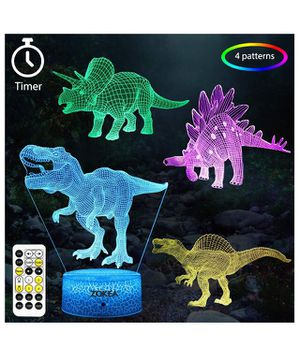 Dinosaur Gifts for Boys 7 Colors Changing 3D Dinosaur Night Light (4 Patterns) with Timer & Remote Control & Smart Touch, Gifts for Boys Girls Age 2 for Sale in Corona, CA