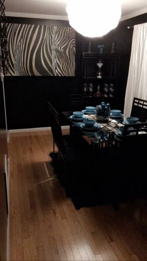 6 chair dinner set with China stand for Sale in Severn, MD