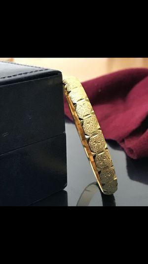 """18k gold filled 18k stamped 8"""" bracelet bangle for Sale in Silver Spring, MD"""