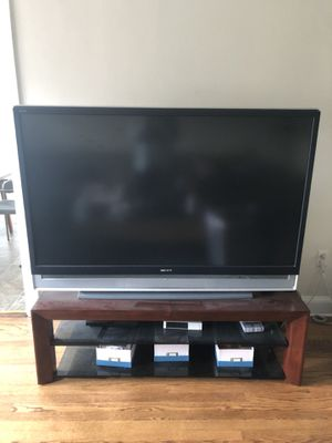 """60"""" inch rear projection Sony TV and stand for Sale in Seattle, WA"""