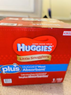 Size 1 huggie diapers for Sale in Lynwood, CA