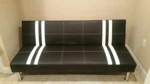 Brand new black faux leather futon/sofa bed for Sale in Silver Spring, MD