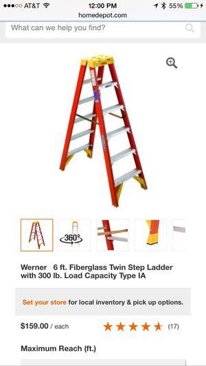 Werner 6 ft. Fiberglass Twin Step Ladder for Sale in Miami, FL