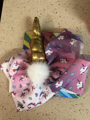 Jojo siwa unicorn bow for Sale in Plantation, FL