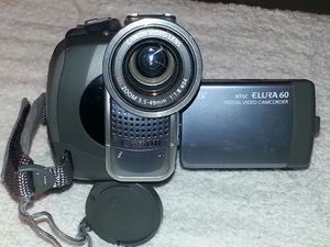 BRAND NEW. NEVER USED. CANON NTSC ELURA 60 DIGITAL VIDEO CAMERA WITH ALL ACCESSORIES for Sale for sale  Englewood, NJ