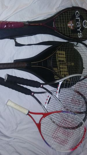 Gray's, Prince and 3 Wilson tennis rackets. for Sale in Norfolk, VA