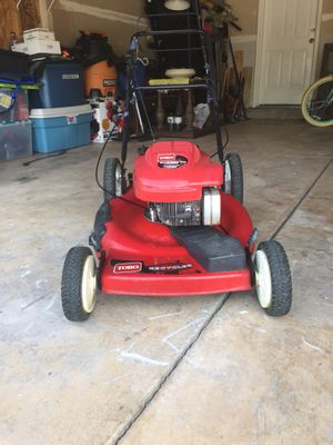 Toro lawnmower self propelled high performance high wheeler start right up 6.5 horse power for Sale in Colorado Springs, CO