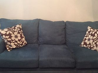 Blue Sofa, Loveseat, and Chair for Sale in Aurora,  CO
